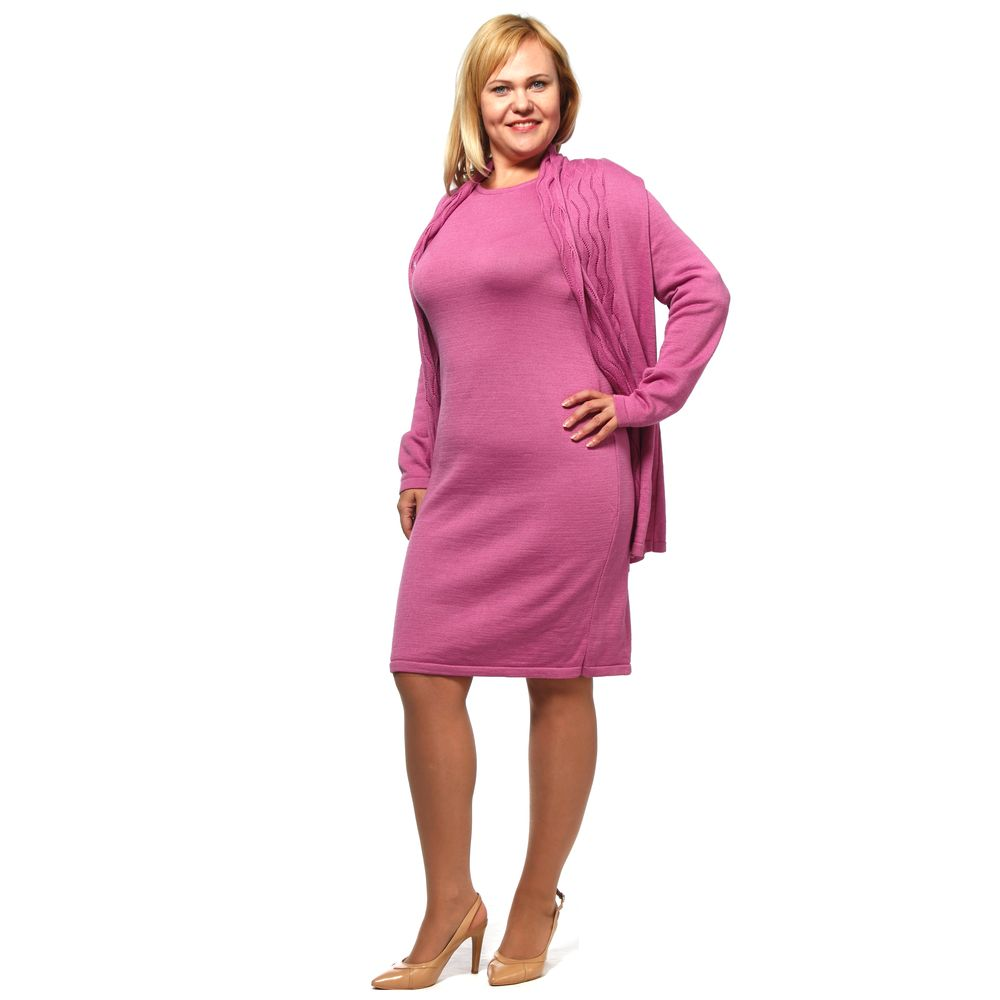 Комплект: вязаное платье и кардиган