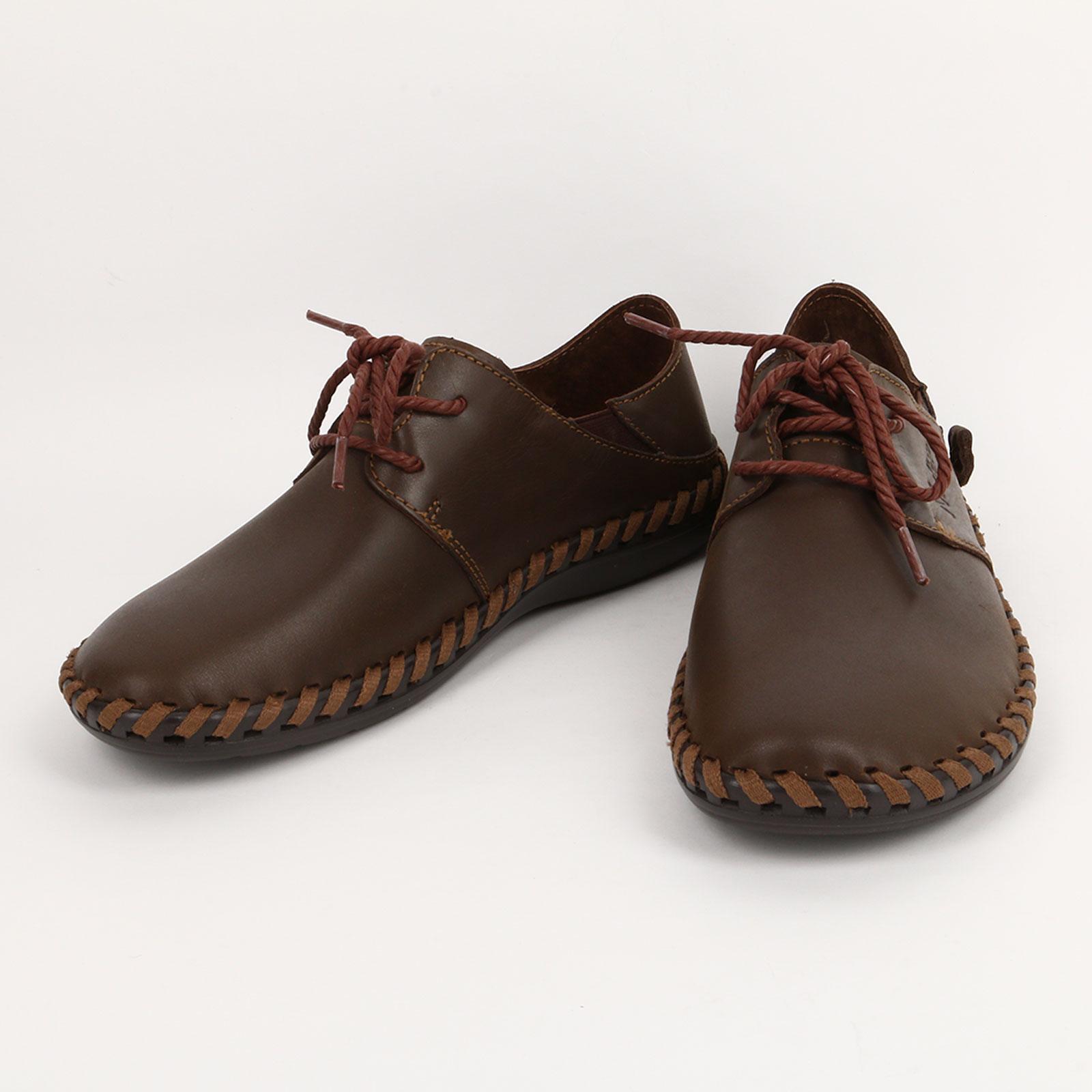 Полуботинки на шнурках с декоротивной сточкой