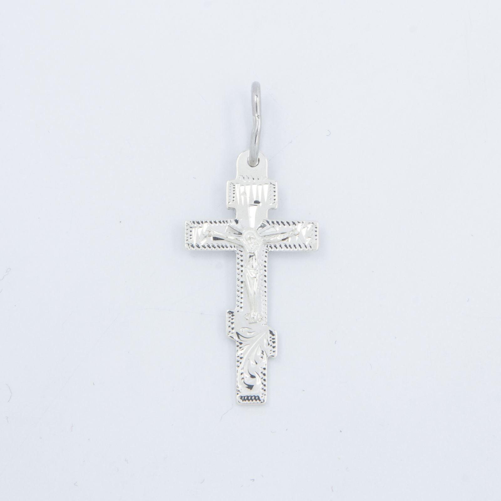 Серебряный крест шестиконечный «Русский православный»