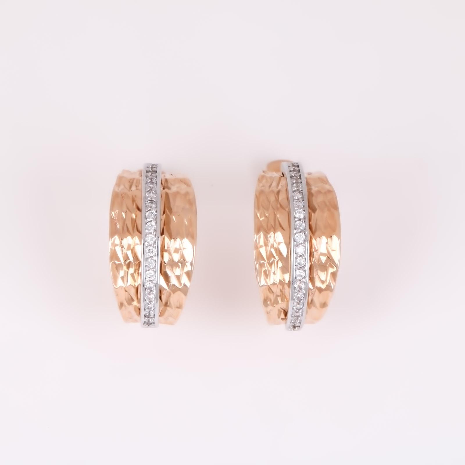 Золотые серьги «Василиса»
