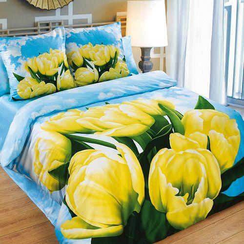 Комплект постельного белья «Желтые тюльпаны»