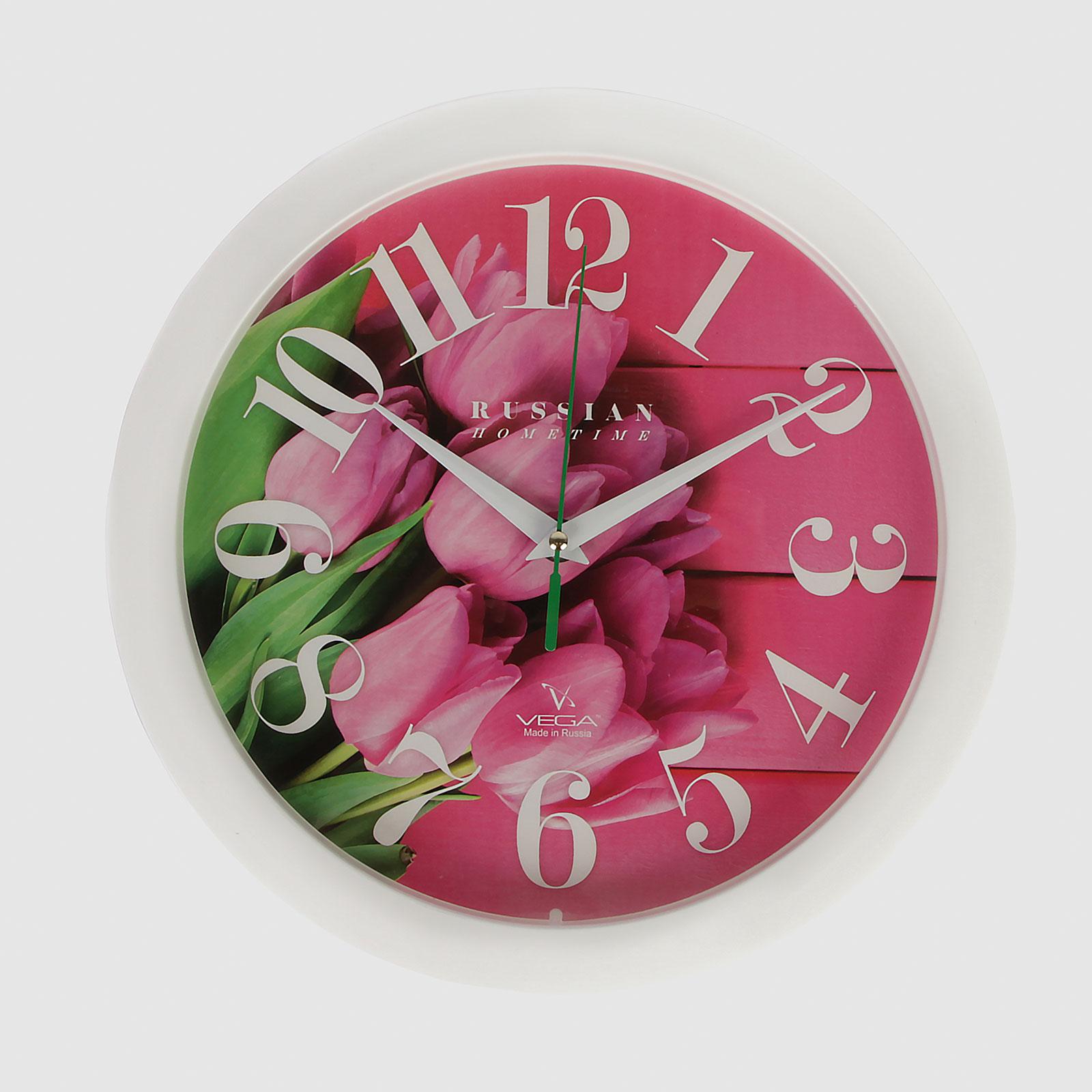 Часы настенные «Яркие тюльпаны»