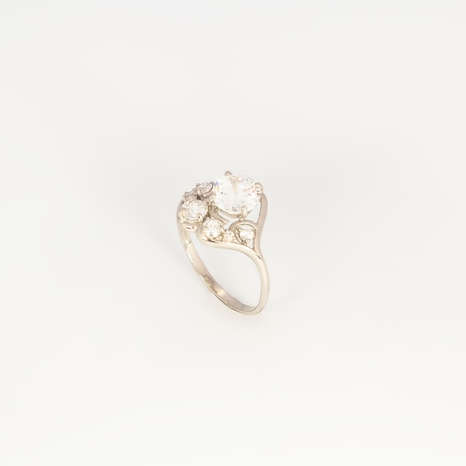 Серебряное кольцо «Весенние капли»