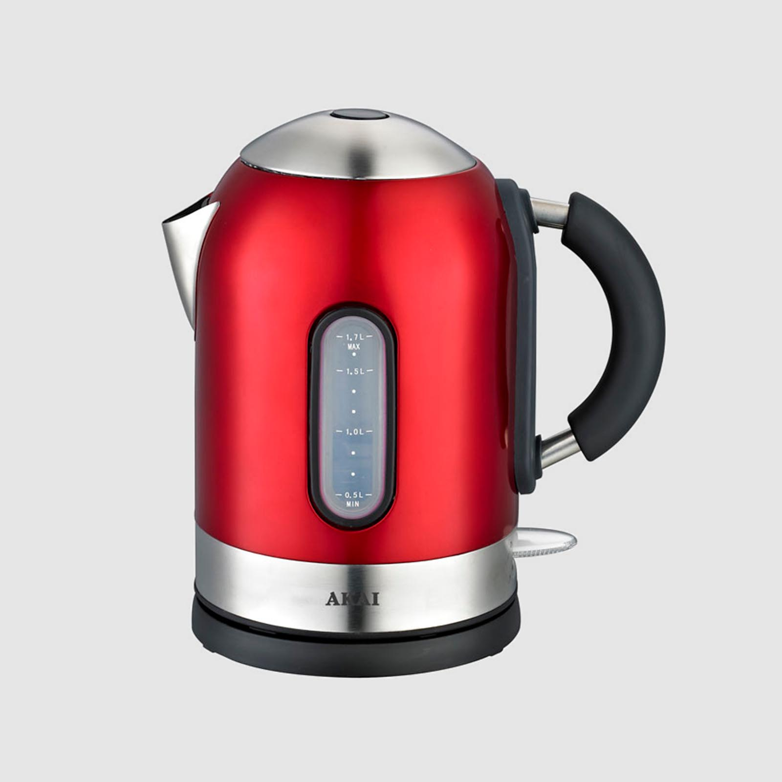 Беспроводной электрический чайник, красный