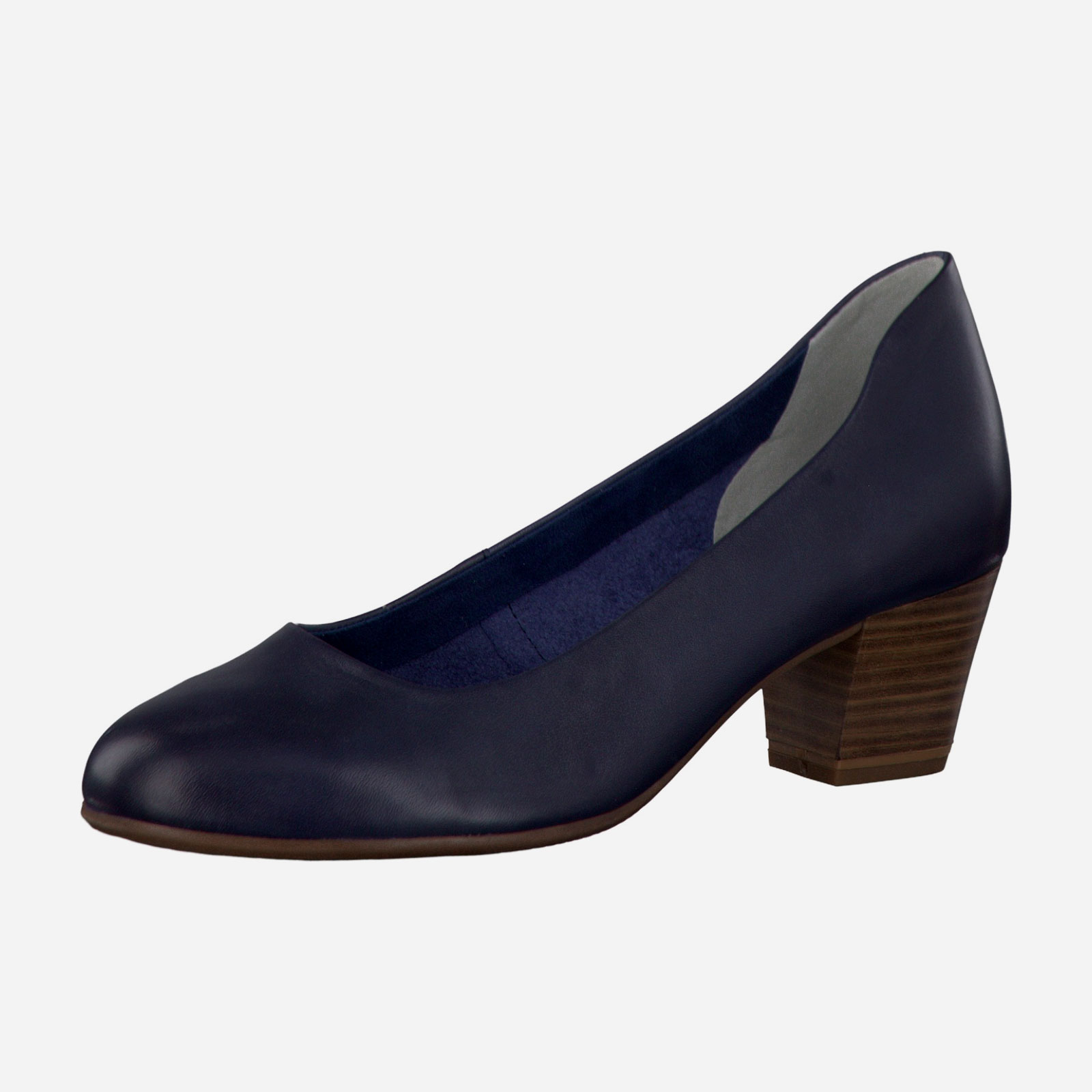 Туфли женские из натуральной кожи на каблуке