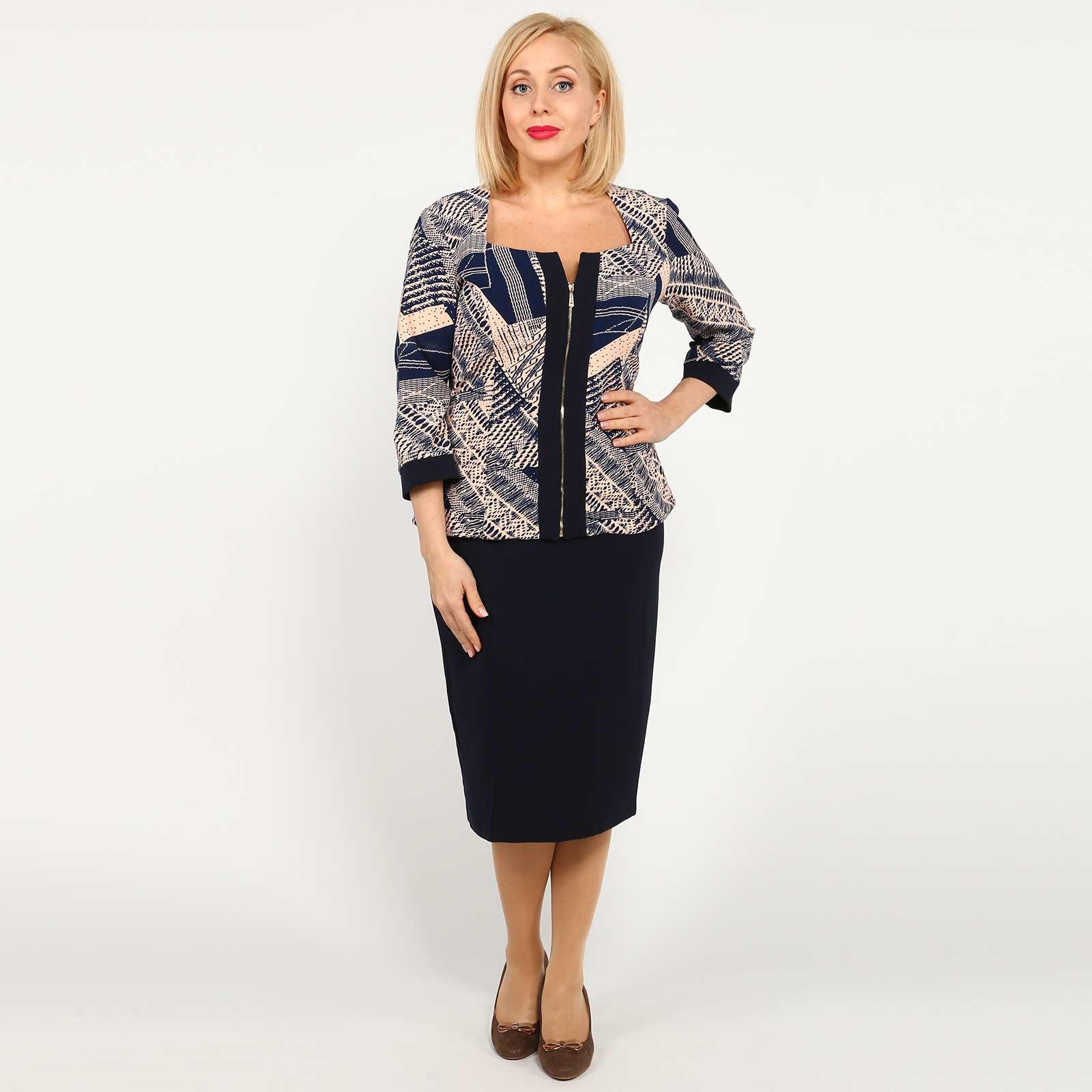 Костюм: блуза на молнии и юбка
