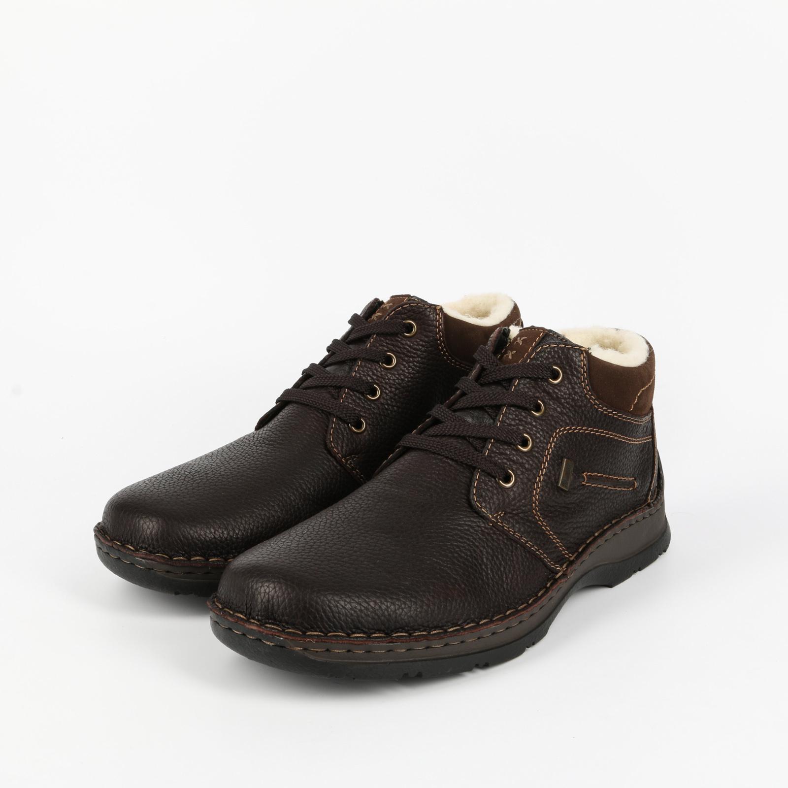 Ботинки мужские с подкладом из шерсти