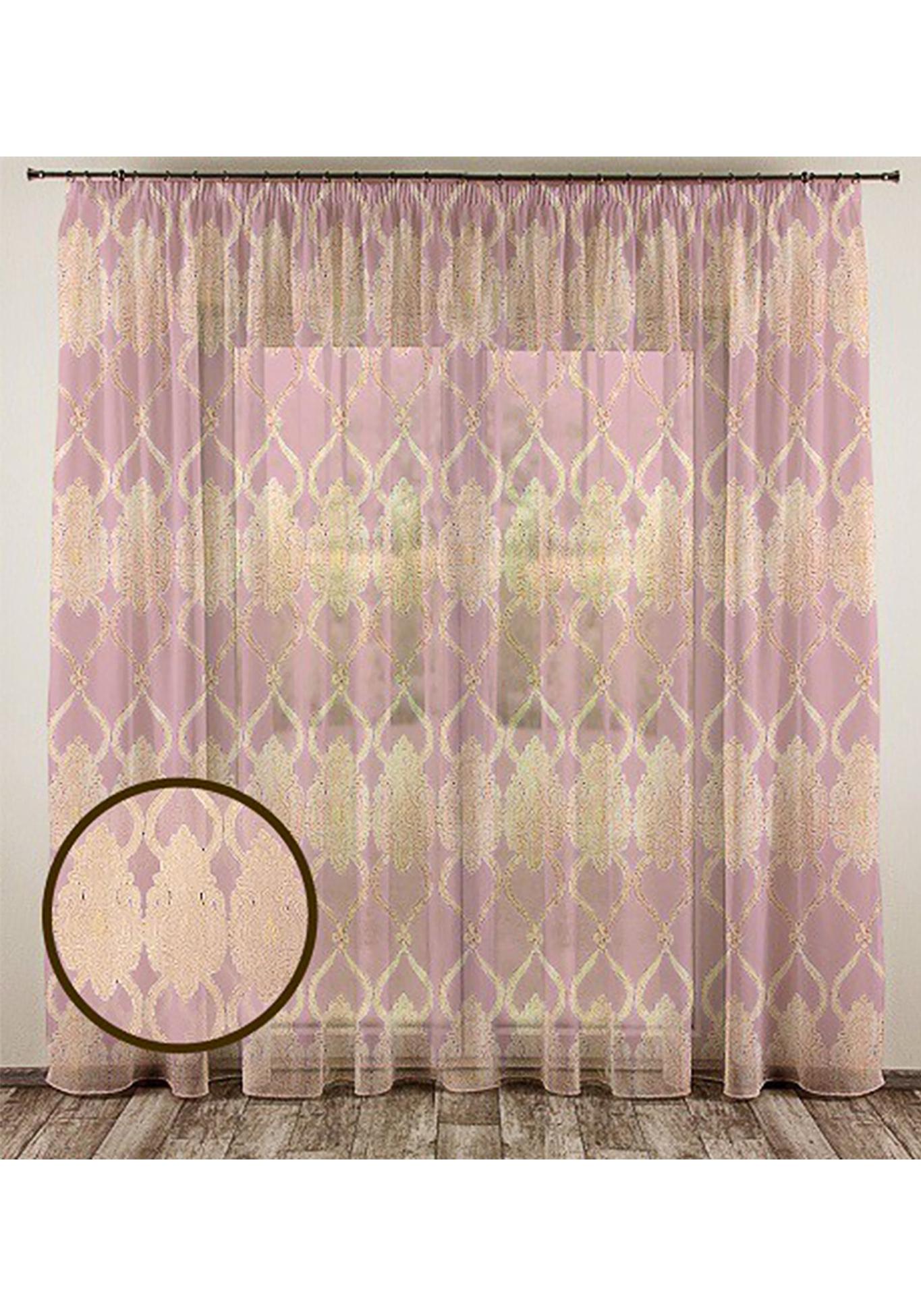 Жаккардовый тюль Согдиана комплект шторы и тюль мартекс фиолетовый сад
