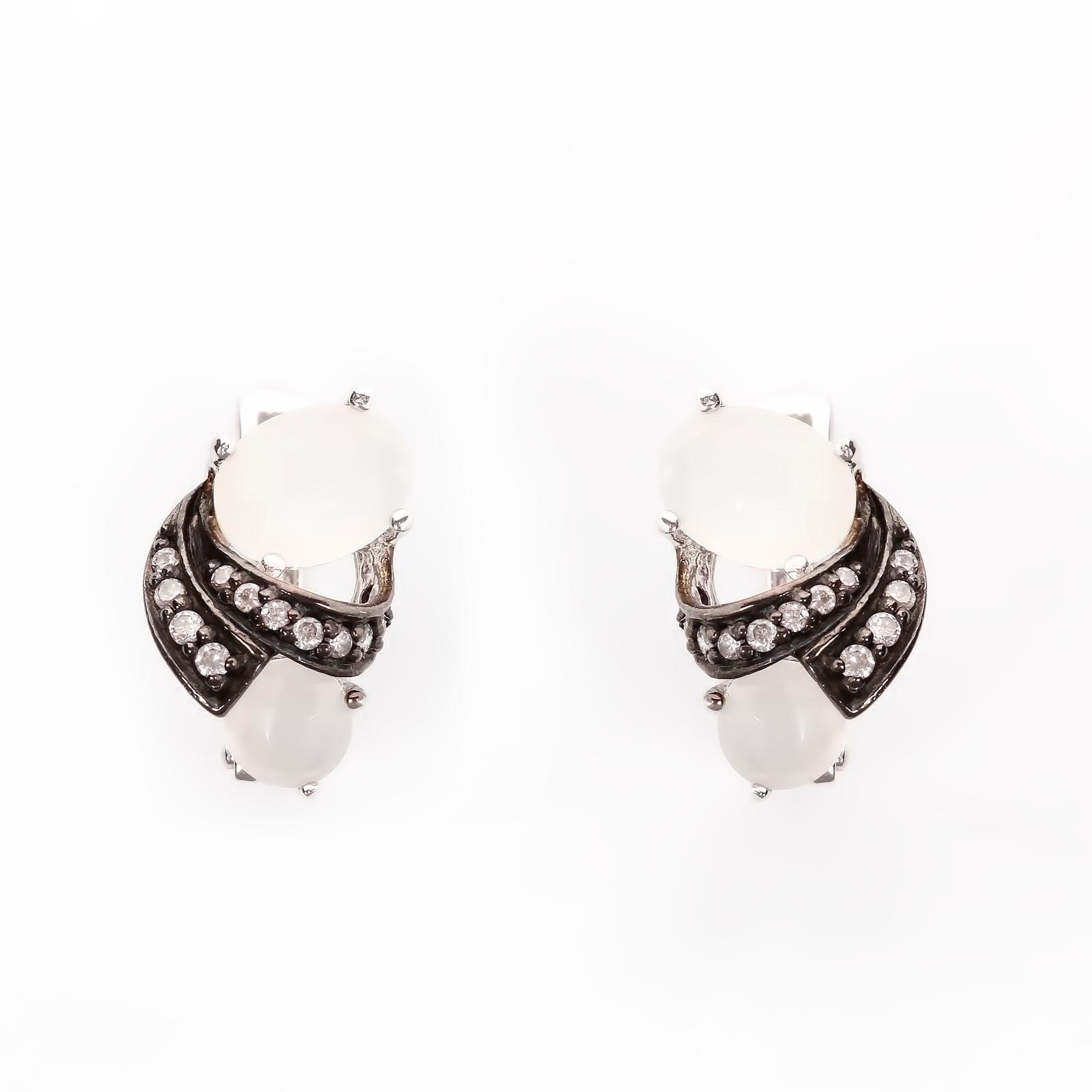 Серебряные серьги «Млечная мечта»