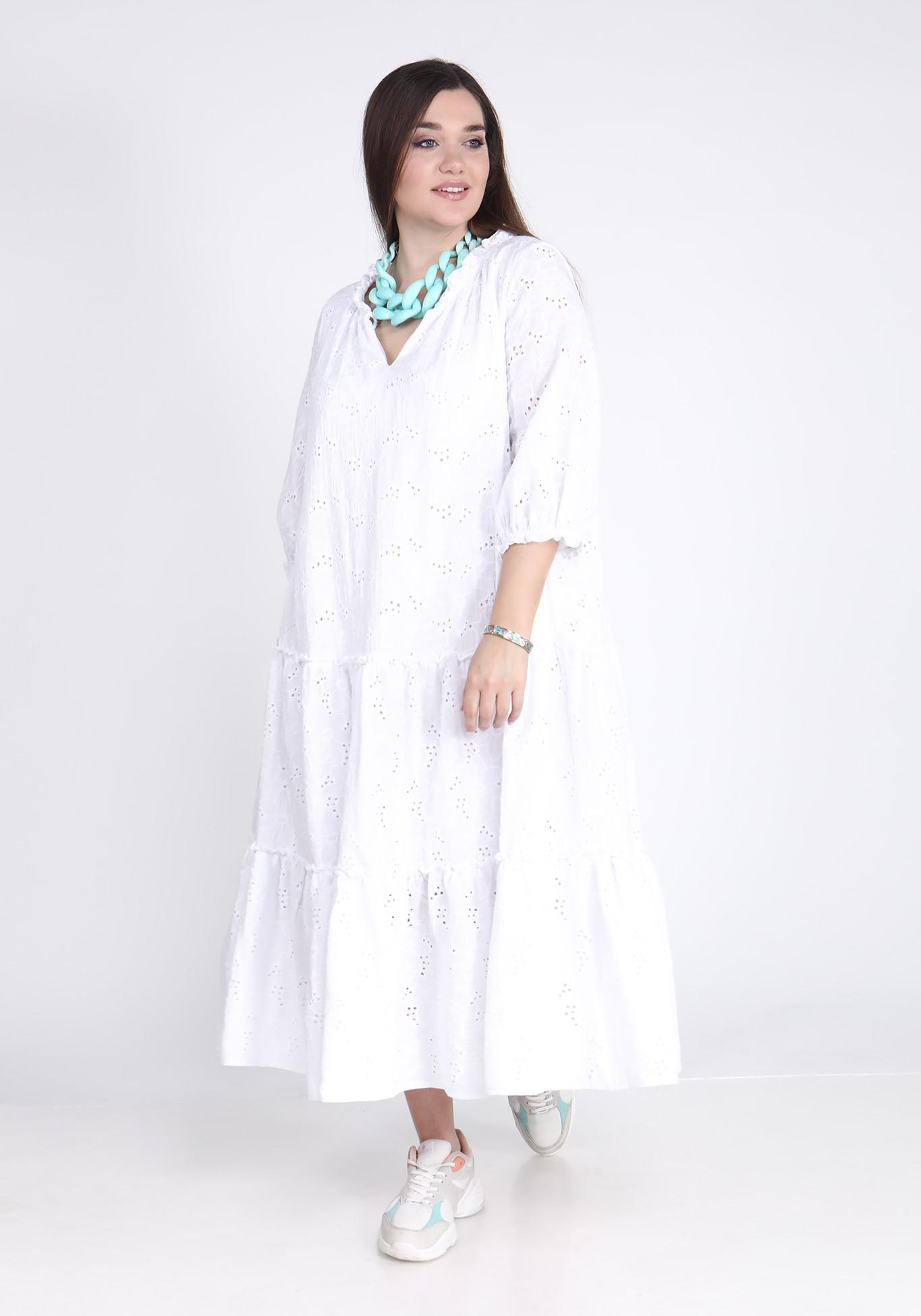 Платье из шитья с воланами