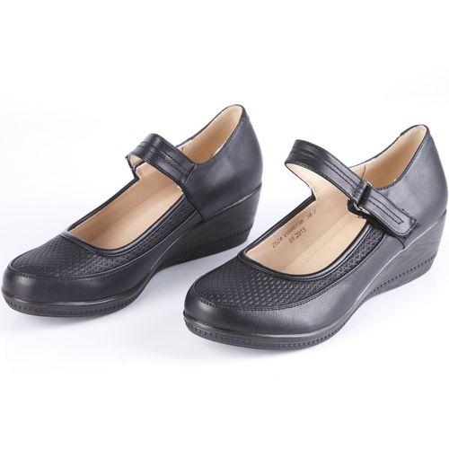 Туфли женские с закругленным мысом и ремешком
